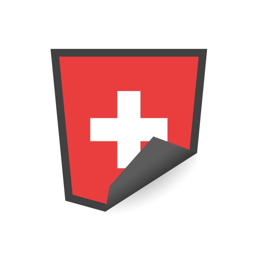 Swiss Flags Stickers