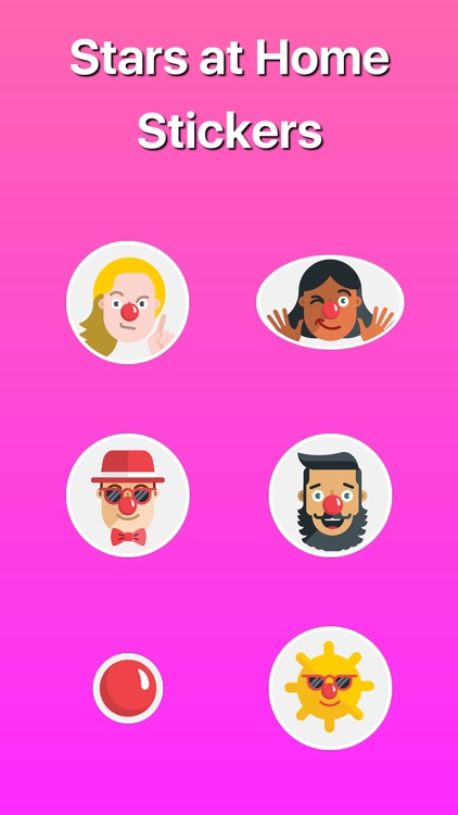 Fashion Stars and Celebrities at Home Stickers