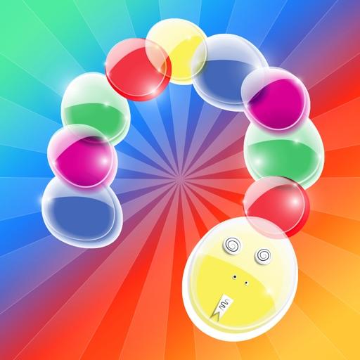 Шарики Змейка - есть цветные шары игра змея