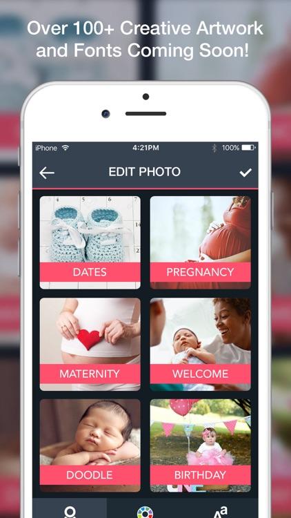 Baby Art- Baby Monthly Pictures & Baby Milestones screenshot-3
