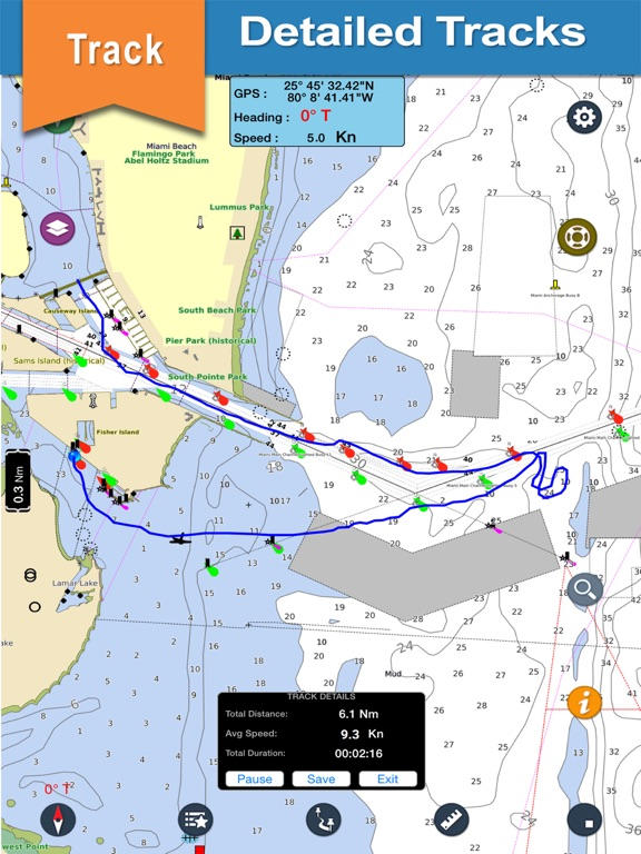 Us east coast boating charts app price drops