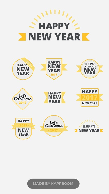 New Year Messages Stickers