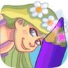油漆公主长发公主-免费儿童着色长发公主游戏
