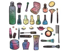 Activities of Cosmetic Beauty Watercolor Stickers
