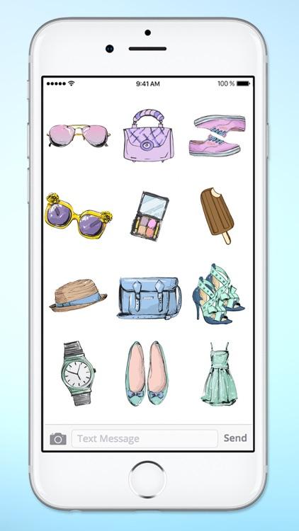 Stylish Girl Beauty and Fashion Sticker Pack 3 screenshot-4