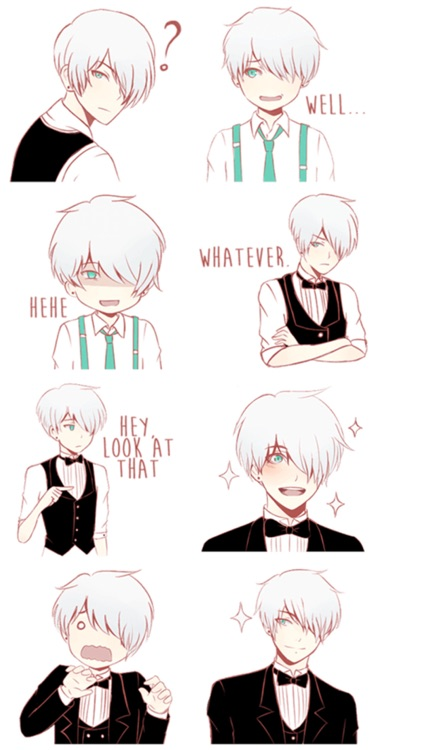 Cute Butler Stickers screenshot-3