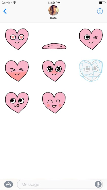 Lovely Heart Smiley ANIMATED Stickers For V Day screenshot-3