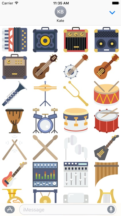 Music Stickers -Emoticons for Texting in Messenger screenshot-3