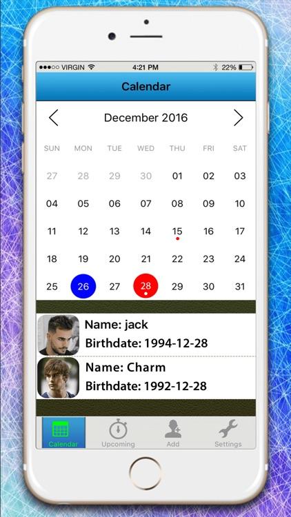 Birthday Calendar Reminder & Countdown Free