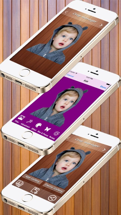 Photo Crop manager, photo editor