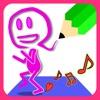 描いたら踊る! 顔をお絵描き - 無料知育アプリ