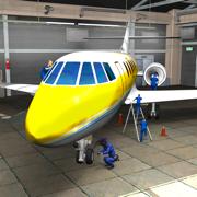 飞机机械模拟器3D维修车间车库