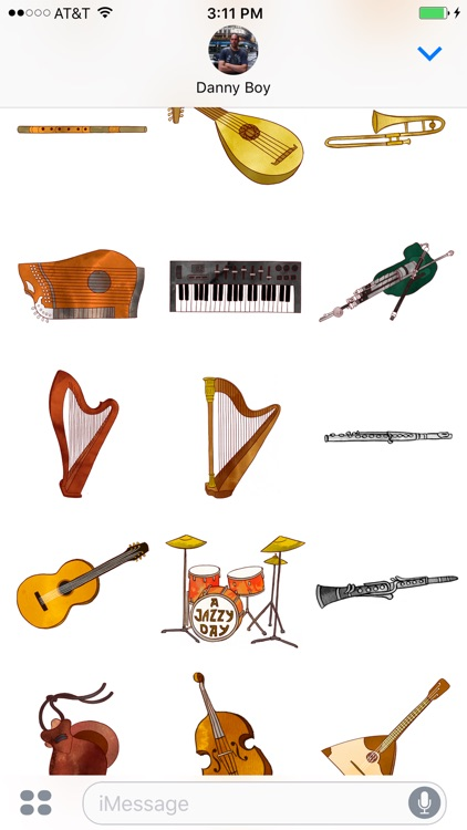 Jazzy Musical Instruments - World Music Stickers screenshot-3