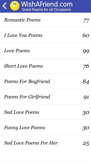 Poems - Love, Friends & Family on the App Store