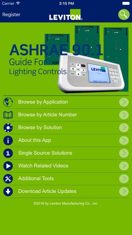 Leviton ASHRAE 90 1 App by Leviton Manufacturing Co  Inc