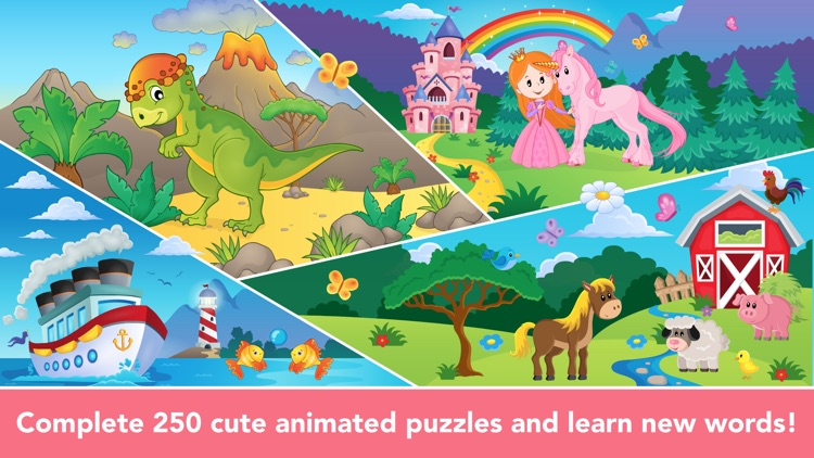 Shape Puzzle learning games for Toddler Kids free
