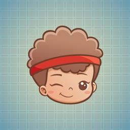 Sticker Me Fuzzy Hair Boy