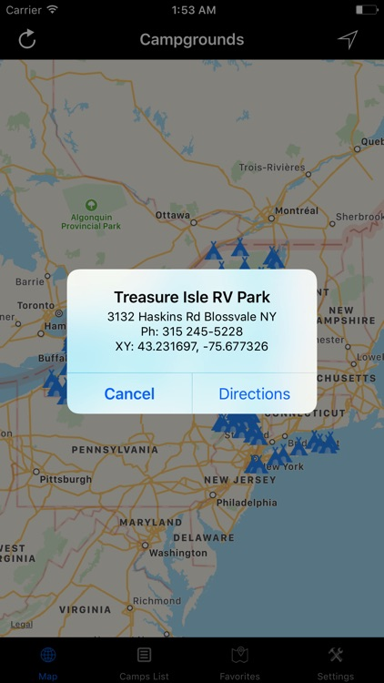 New York – Campgrounds & RV Parks