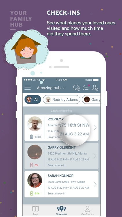 Family In Safe: location tracking, chat and tasks screenshot-3