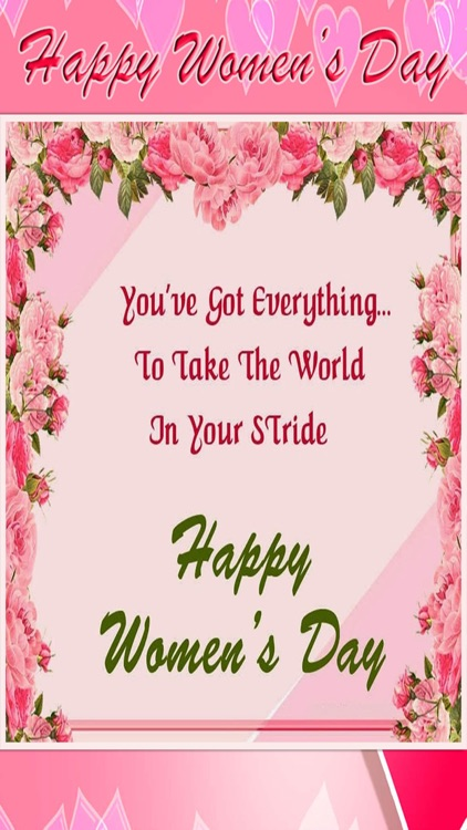 Womens Day Greetings Card Wishes 2017 Screenshot 1