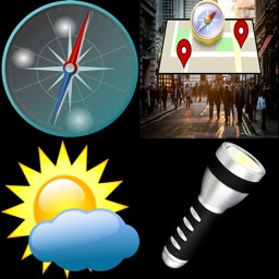 Weather,Compass,GPS,Flashlight and Map-All in one