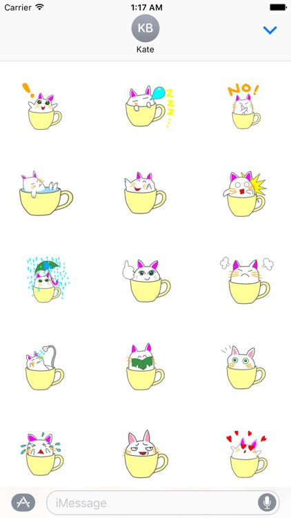 Cute icat Stickers