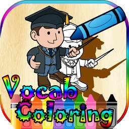 4 in 1 English Vocabulary Coloring