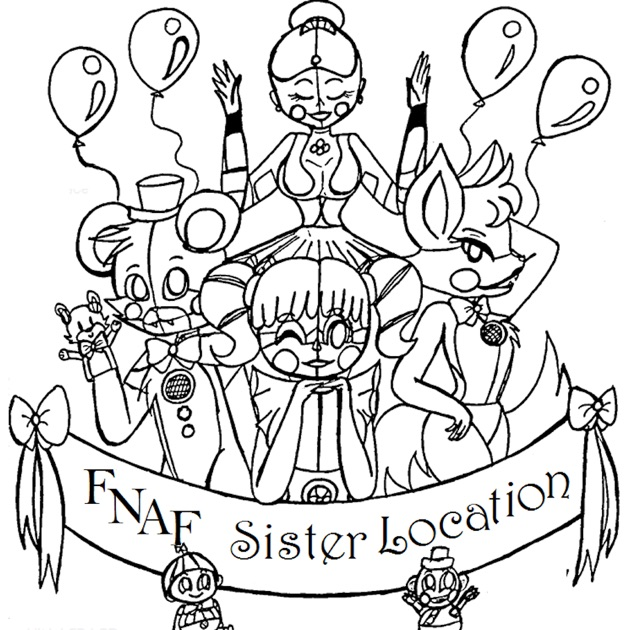 Coloring Pages For Ipad Mini : Coloring pages for fnaf sister location on the app store