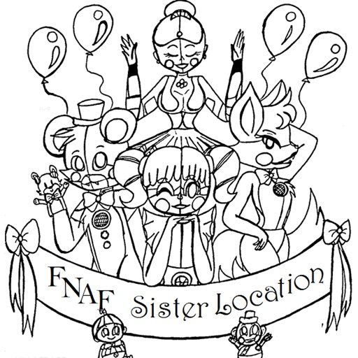 Coloring Pages For FNAF Sister Location By Jadeja Falguni