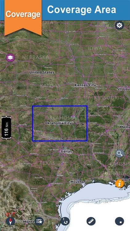 Oklahoma lake GPS offline nautical fishing charts