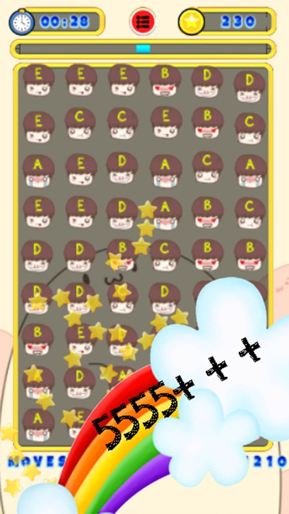 Smiley Match 3 Puzzle Game