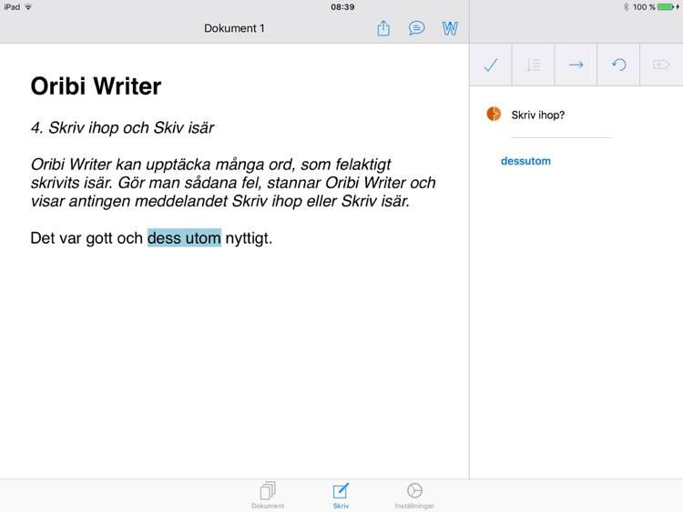 Oribi Writer screenshot-3
