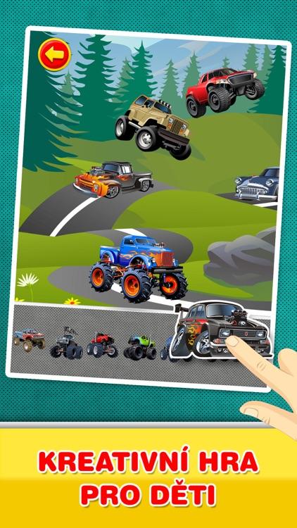 Auta, Kamiony a vozidla : Kreativní hra pro děti