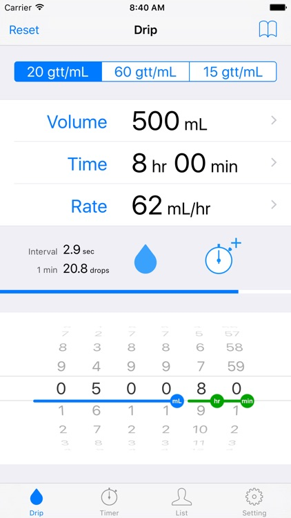 Drip Infusion - IV Drip Rate Calculator & Timer screenshot-0
