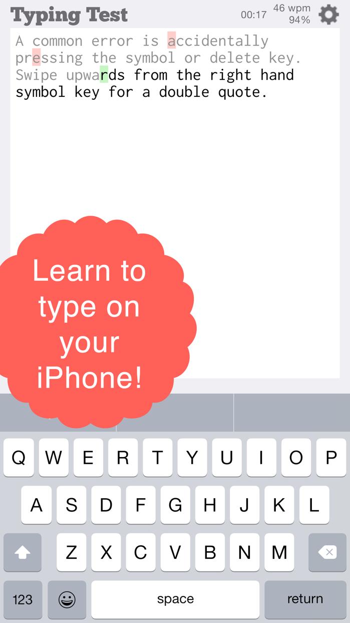 TapTyping - typing trainer Screenshot