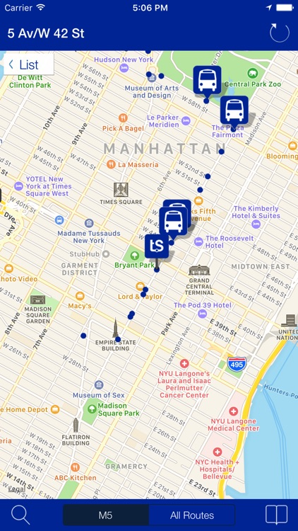 Transit Stop: NYC Bus Tracker screenshot-1