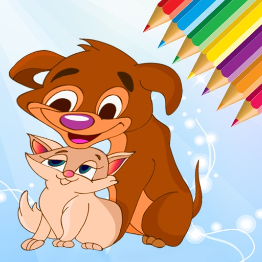 Dog & Cat Coloring Book - All In 1 Animals Drawing iOS App