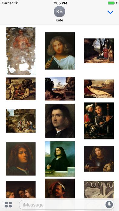 Giorgione Artworks Stickers screenshot two