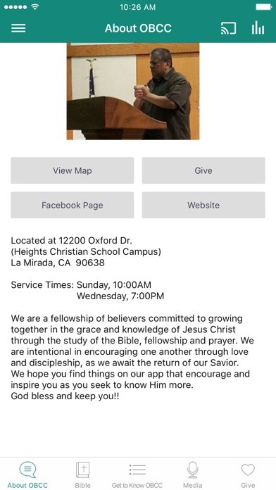 Olive Branch Calvary Chapel screenshot 1