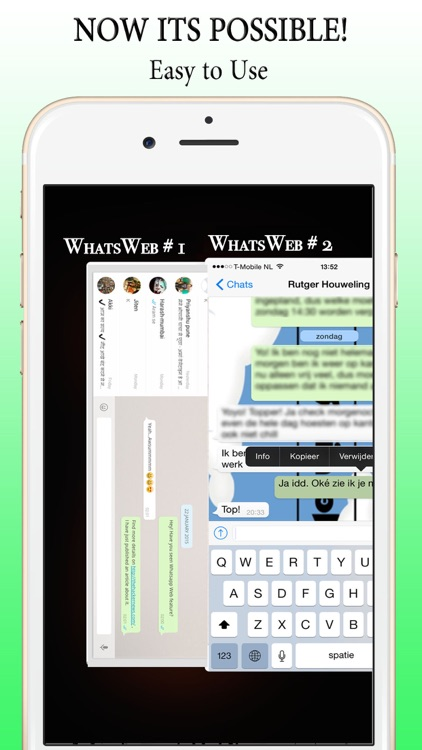 2 Accounts for WhatsWeb with Password Lock screenshot-4