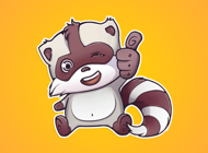 Raccoon Wants to Have Fun Stickers