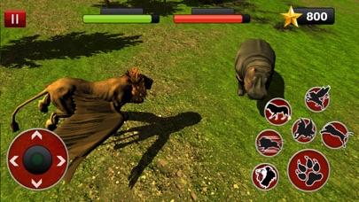 Flying Lion Simulator: Lucha de animales salvajesCaptura de pantalla de2