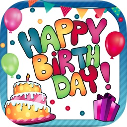 Birthday greeting cards & stickers – Photo editor