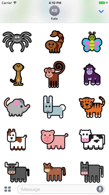 Huge Animal Exploration Sticker Pack for Messaging screenshot-4