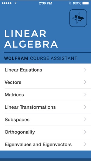 Wolfram Linear Algebra Course Assistant on the App Store