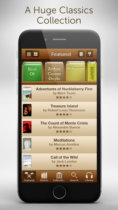 Free Audiobooks - 4,728 classic audiobooks for less than a cup of coffee. Screenshot 2