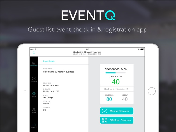 Event check-in Guest list app