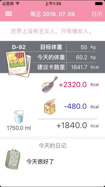 减肥日记(Diet Diary : DD)