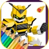 Robot Coloring Book Game For Kids