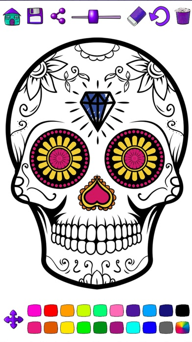 mexican sugar skull coloring pages - photo#27